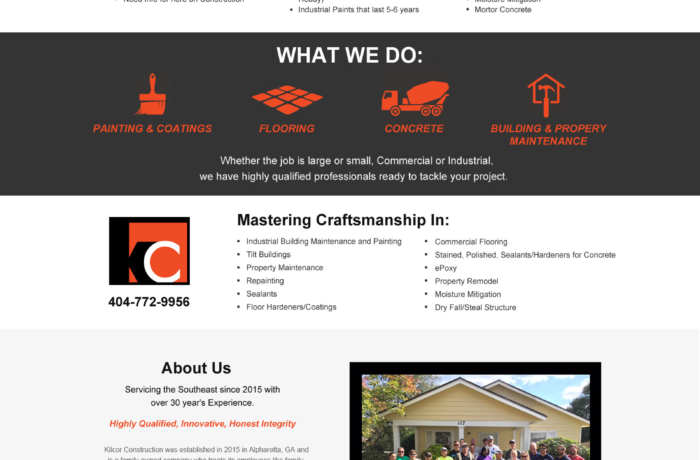 Kilcor Construction – Website